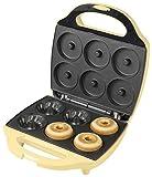 Bestron Gugelhupf Maker, Waffeleisen für 6 Gugelhupf, Sweet Dreams, Antihaftbeschichtung, 900 Watt, Farbe: Gelb