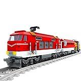 VPPI Technik Zug Eisenbahn Bausatz, City Personenzug Bausteine Modell mit Schienen, 588 Teile City Güterzug Klemmbausteine Kompatibel mit Lego Technic