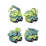 CeFoney Bagger Spielzeug ab 3 4 5 Jahren für Jungen,4PCS Jungen Spielzeug Sandkasten Sandspielzeug Engineering Bagger Set ,Zerlegen Spielzeug DIY Baufahrzeuge Lernspielzeug für Kinder