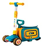 HMYLI Kinderkoffer,Handgepäck für Kinder,Kindergepäck,Koffer,trunky,zieh Koffer,Trolley-Kinder,reisekoffer,Gelb