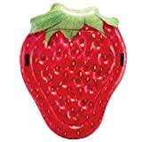 Intex 58781EU Luftmatratze in Form einer Erdbeere, realistischer Druck, mehrfarbig
