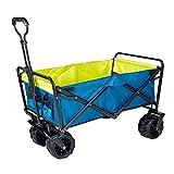 Bollerwagen Outdoor Campingwagen Warenkorb Haus Haus Einkaufswagen Tragbare Faltbare Trolley 7-Zoll-Warenkorb für Garden Beach (Farbe : Blau, Size : One Szie)