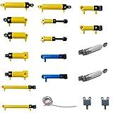 Bybo Technik Pneumatik Kit, 10 Arten Technik Pneumatik Zylinder,Technik Ersatzteile Set Kompatibel mit Lego