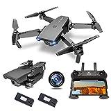 NEHEME NH525 Faltbare Drohnen mit 720P HD Kamera für Erwachsene, RC Quadcopter WiFi FPV Live Video, Höhenhaltung, Headless Modus, One Key Take Off für Kinder oder Anfänger mit 2 Batterien