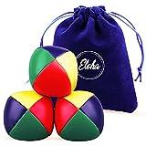 Eloha 3er Set Jonglierbälle - Optimaler Grip für Anfänger und Profis: Premium Qualität, Ø 62mm, extra Starke Nähte | Perfektes Jonglierset für Kinder als Geschenk