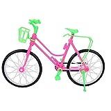 Mädchen Miniatur Fahrrad mit Korb Kunststoff Simulation Mountainbike Spielzeug Kinder Spielhaus Geschenke für Puppe Outdoor Zubehör