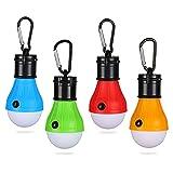 Yizhet Campinglampe, 4xLED Campinglampe LED Camping Laterne Zeltlampe Glühbirne Set, Notlicht mit Karabiner Wasserdicht Tragbare Camping Lantern LED für Camping,Abenteuer,Angeln,Notfall, Stromausfall