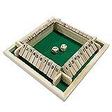 Jabey Four Side Flop Spiel Nummer Spielspielzeug Eltern-Kind Brettspiel Bar Party Freizeitspiel Mathe Spielzeug Spielzeug für Vier Personen Digitales Spielzeug