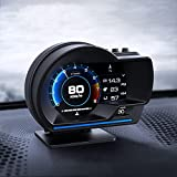 EUNEWR OBD GPS Smart Gauge,AP-6 Universalauto HUD OBD+GPS Dual System,Auto hud Head up Display GPS Tachometer,Überdrehzahlwarnung,Kilometerstandmessung,Motordrehzahl,Geschwindigkeitsmesser