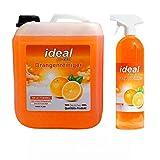 RedFOX24 Premium ideal Orangenreiniger Konzentrat 5 Liter + 1 Liter in der Sprühflasche/Fleckenentferner/Konzentrat