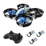 Holy Stone HS210 Mini Drohne für Kinder, RC Quadrocopter Helikopter Ferngesteuert mit 3 Akkus, 21 Min. Lange Flugzeit, Automatische Höhenhaltung,360 Flip, Ideal für Anfänger Mädchen,blau
