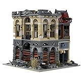 Fancy Brick Haus Klemmbausteine Set, MOC-41175 Brick Bank - Apocalypse Version Bausatz, Modellbausatz Kompatibel mit Lego - 2500 Teile
