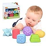 TUMAMA Baby Spielzeug ab 0 6 Monate , Weiche Baby Bälle Kleinkinder Beißring, Spielzeug für Kinder Pädagogisches Baby-Badespielzeug für 0-3 Jahre (6pack)