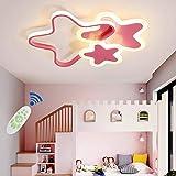 Moderne Led Deckenleuchte Kinderzimmerlampe Wohnzimmer Deckenleuchten 3 Sterne Lampenschirm Kinder Mädchen Junge Schlafzimmer Deckenbeleuchtung Dimmbar Fernbedienung Küche Esszimmer Kronleuchter,Wei