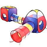 ANAGRE Kinderzelt 4 in 1, Kinder Spielzelt Faltbar Spielhaus Draußen Krabbeltunnel 4-teilig Tent