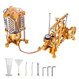 BOUN Motor Bausatz Modell, ENJOMOR Watt Dampfmaschine Wissenschaftliches Lernmodell Spielzeug Dampfpumpe mit Boiler Generator