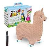 Gerardo`S Hüpftier Alpaka Beige. Hüpftiere ab 1 Jahr und ab 2 Jahre. Aufblasbare Tiere Spielzeug Draussen oder Drinnen für Kleinkinder ab 12 Monaten.