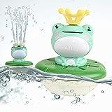 lefeindgdi Baby-Badespielzeug, Frosch-Sprinkler, Duschspielzeug, Badewannenspielzeug, schwimmendes Set, niedlich, wasserdicht, elektrisches Kinder-Wasserspielzeug, geeignet für Badezimmer, Schwimmbad