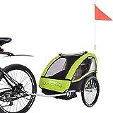 VEELAR Sport Kinderanhänger Fahrradanhänger Anhänger Kinderfahrradanhänger 50201-02 T Grün
