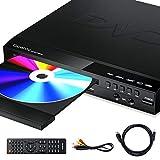 Gueray DVD Player für Alle Regionen Kostenloser Kompakter DVD-Player mit HD 1080P und Externer Festplattenwiedergabe DVD-R / RW-CD-R / RW-USB-Anschluss, Fernbedienung