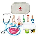 XIAN 15 Stück Kinder Arztkoffer Arztkoffer Arztspiele Rollenspiel Spielzeug für Kinder ab 3 Jahren (grün)