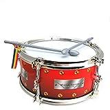 STUWU Marschtrommel 22 cm aus Kunststoff Kindertrommel Trommel mit Tragegurt 2 Schlagstöcken Kinderinstrument zum Musizieren Musikinstrument