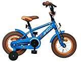 Amigo Sports - Kinderfahrrad für Jungen - 12 Zoll - mit Handbremse, Rücktritt, Lenkerpolster und Stützräder - ab 3-4 Jahre - Blau