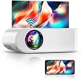 WiFi Beamer, YABER V2 6000 LM Tragbar Mini Beamer, Unterstützt 1080P Full HD Video Beamer, Projektor Kompatibel mit TV Stick,Tablet, PS4, iOS/Android Smartphone