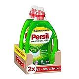 Persil Universal Kraft-Gel Flüssigwaschmittel (2 x 53 Waschladungen), Vollwaschmittel mit Tiefenrein-Plus Technologie bekämpft hartnäckigste Flecken für strahlende Reinheit