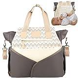 MIXIRL® Wickeltasche | Windeltaschen mit integrierter Wickelunterlage & Kinderwagenbefestigung für unterwegs - wasserabweisend, geruchsneutral & langlebig - ideal für jede Mama