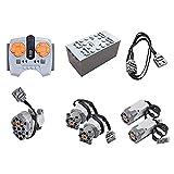 Bybo Technik Power Functions, Technik motoren Set, Technik Batteriebox Set, 8 Teile Kompatibel mit Lego Technic