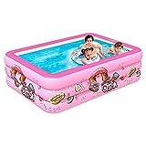 YFFTTKD Aufblasbarer Pool, Aufblasbarer Pool für Kinder, Erwachsene, Babys, Kleinkinder, Familien-Planschbecken für den Innen-Außengarten, Pink Nice