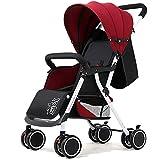 Maracos Kinderwagen Buggy, kompakter Baby-Kinderwagen, Reise-Buggy, faltbar ab der Geburt, mit einer Hand faltbar, leicht (Farbe: Rot) (Farbe: Rot)