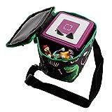 caseroxx Transporttasche für Tonie- und Tigerbox zum Umhängen transportieren mit einzigartigem Dinosauriermuster- schwarz Design, kindgerecht und hochwertig