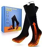 Beheizte Socken, Fußwärmer Elektrisch, Wiederaufladbare Warme Socken, 3 Heizungseinstellungen Thermosocke für Outdoor-Sportarten, Angeln, Motorräder, Skifahren, Jagen und Halten Der Fußtemperatur