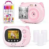 Upgrow Sofortbildkamera Kinder Kamera, Digitalkamera für Kinder, 24 Megapixel HD Kamera mit 2.4' IPS farbig Bildschirm, Sofortdruck Kamera, Mini Camcoder