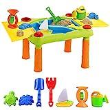 deAO Toller Sand und Wasserspieltisch für Kinder !!! Mit Doppelfach und Deckel sowie umfagreichen Zubehör.