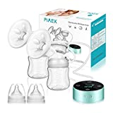 Elektrische Milchpumpe Doppel Milchpumpe 3 Modi und 10 Saugstufen Wiederaufladbare Brustpumpe Muttermilch Abpumpen, BPA-frei LED-Touchscreen