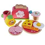 T TOOYFUL Klassische Kinder Küche Frühstück Kochen Brot Toast Set Spielzeug Spielhaus