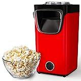 Gadgy Popcornmaschine Mit Zucker Und Öl | Retro Heißluft Popcornmaker Für Zuhause | Süßes Und Salziges Popcorn | Rot | Fertig In 3 Minuten | 60 Gramm Popcorn | Inklusive Messlöffel