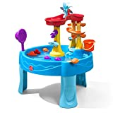 STEP2 Archway Wasserspieltisch | Großer Wassertisch mit 13-teiligem Zubehörset | Garten Wasser Spieltisch für Kinder in Blau