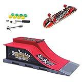 KETIEE Mini Finger Skateboard und Ramp Zubehör Set, Fingerboard Skate Park Spielzeug Ultimate Parks Trainings Requisiten (E)