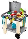 Ecoiffier – Grill für Kinder – 23-teiliger Spielzeug-Grill, mit Burger, Grillzange, Fleisch und Spielzubehör, für Jungen und Mädchen ab 18 Monaten