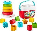 Fisher-Price GRF11 - Fisher-Price Stapel & Sortier Spielset, Geschenkset, Kinderspielzeug aus pflanzlichen Rohstoffen, ab 6 Monaten