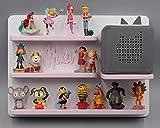 Kinder Regal für Toniebox Musikbox - Wunschname Name - Geeignet für Tonie Tonies ® - zum Aufhängen weiß rosa magnetisch - als Geschenk - tolle Geschenkidee zum Spielen und Sammeln