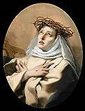XMTET Malen nach Zahlen für Erwachsene,DIY Malen nach Zahlen Kit für Anfänger oder Kinder als Geschenk (16X20 Zoll) Rahmenlos -Heilige Katharina von Siena