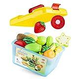 JINGLING Spielküche Zubehör, Schneiden Sie Obst Und Gemüse Magnetspielzeug, Kochen Lebensmittel Simulation Bildungs Und Farbe Wahrnehmung, Rollenspiel Essen Spielzeug Sets Für Kleinkinder