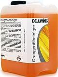 DELLWING Orangenölreiniger Konzentrat 2,5L – Premium Orangenreiniger Konzentrat / Universalreiniger mit Zitrusduft gegen Flecken, Fette, Öle, Klebereste und Harze