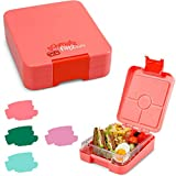 schmatzfatz Easy Kinder Snackbox, Bento Box mit unterteilten Fächern, Lunchbox (Coral)