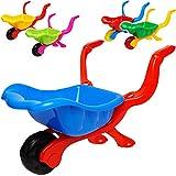 alles-meine.de GmbH kleine Kinder _ Kunststoff Schubkarre - Farb-Mix - ab 1 Jahr - extrem stabil - mit Plastik Reifen & Kunststoffwanne - Kinderschubkarre - Gartenschubkarre - Sa..